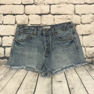 Free People Women's Jean Shorts Button Fly 29
